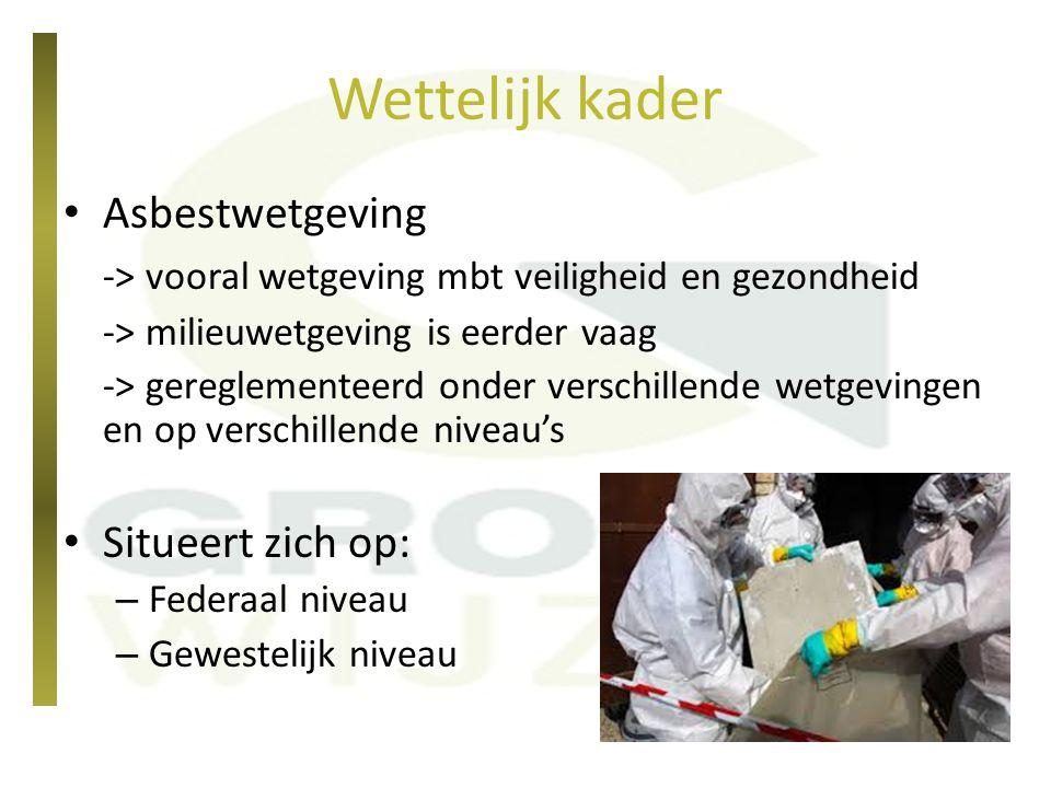Wettelijk kader Asbestwetgeving