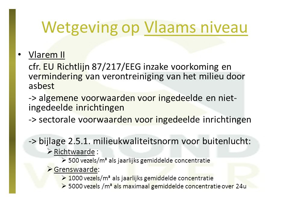 Wetgeving op Vlaams niveau