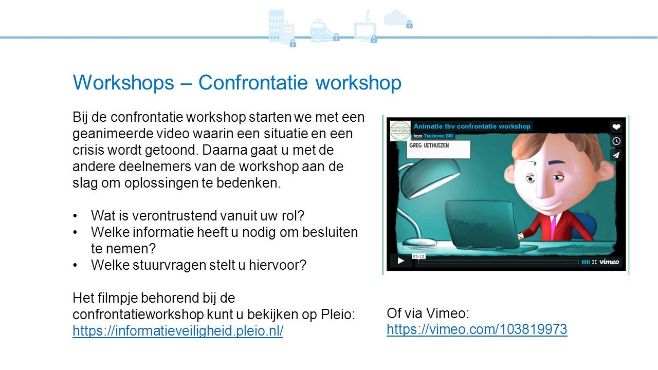 Workshops – Confrontatie workshop