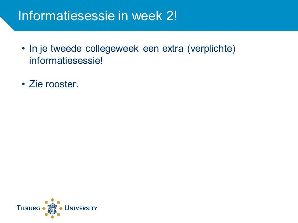 Informatie tijdens de TOP-week