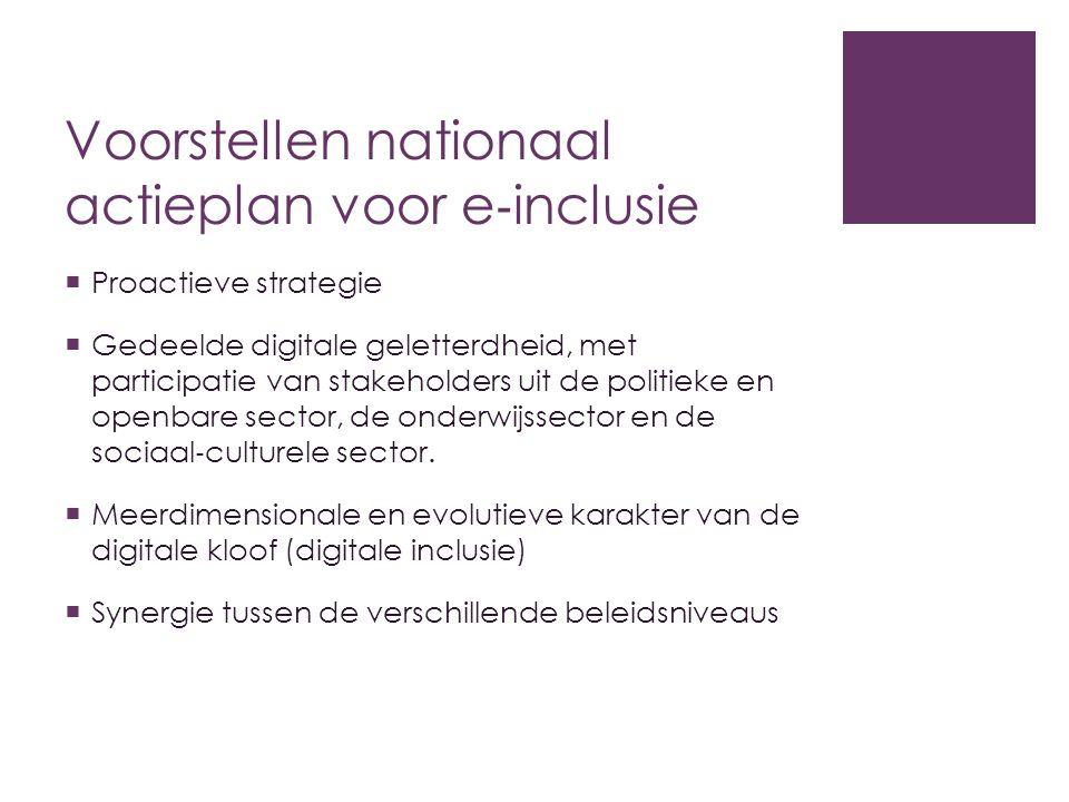 Voorstellen nationaal actieplan voor e‐inclusie