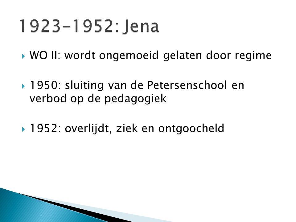1923-1952: Jena WO II: wordt ongemoeid gelaten door regime
