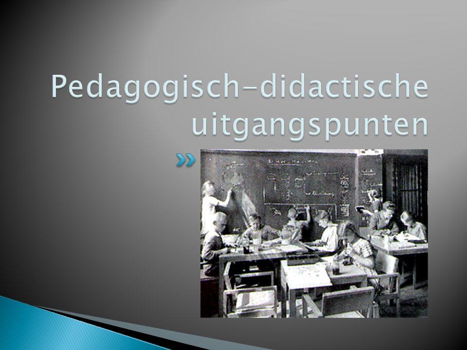Pedagogisch-didactische uitgangspunten
