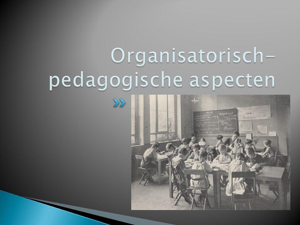 Organisatorisch-pedagogische aspecten