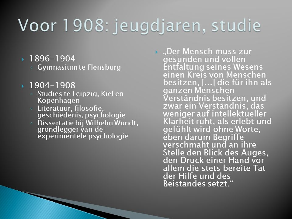 Voor 1908: jeugdjaren, studie