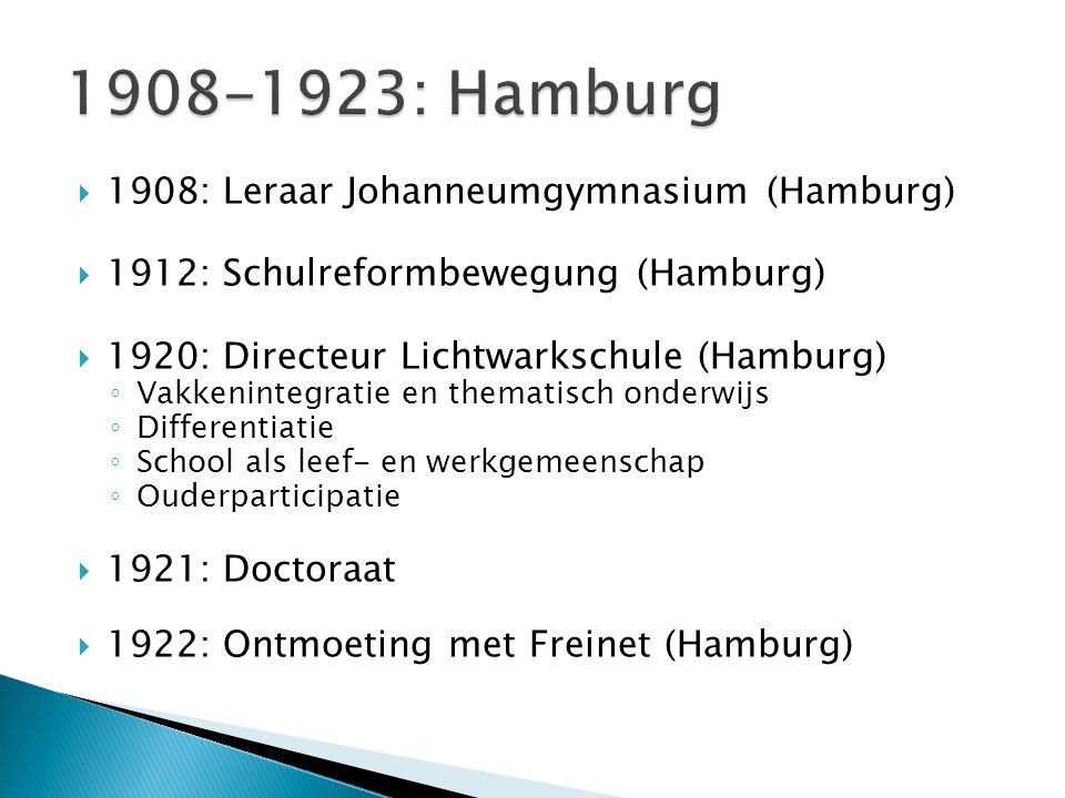 1908-1923: Hamburg 1908: Leraar Johanneumgymnasium (Hamburg)