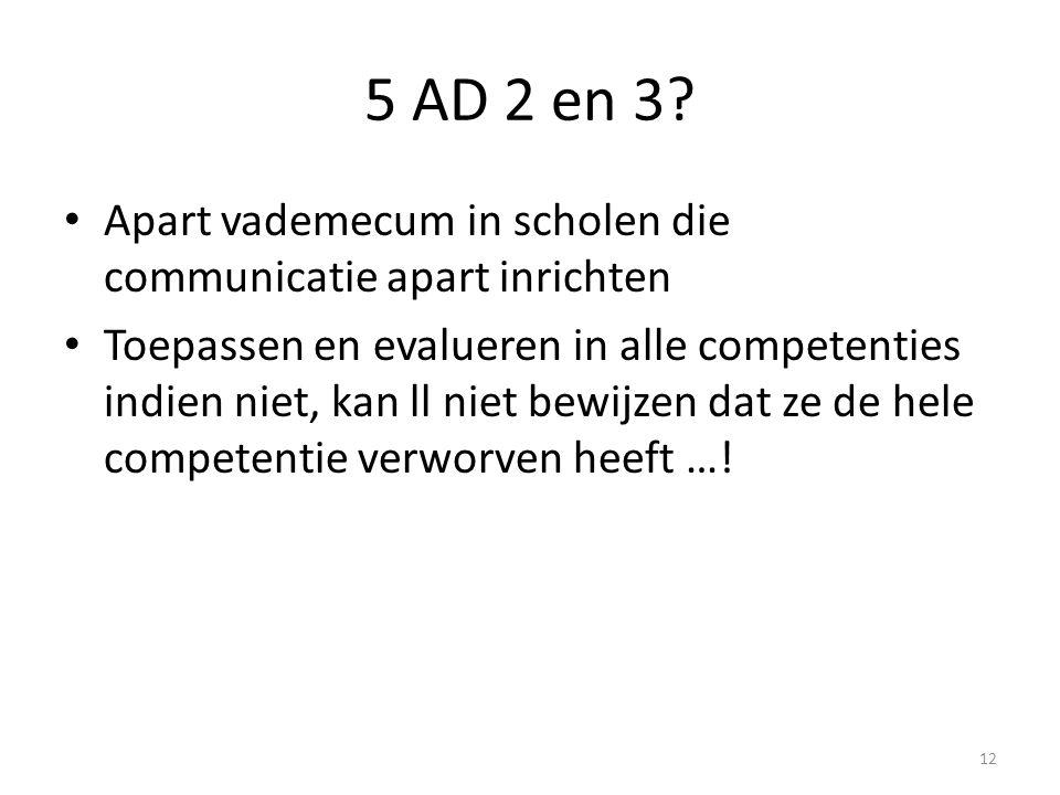 5 AD 2 en 3 Apart vademecum in scholen die communicatie apart inrichten.