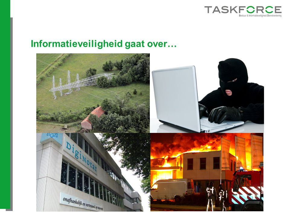 Informatieveiligheid gaat over…