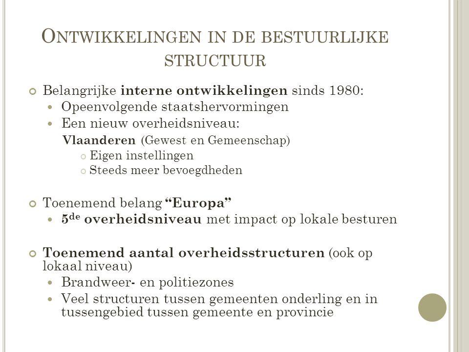 Ontwikkelingen in de bestuurlijke structuur