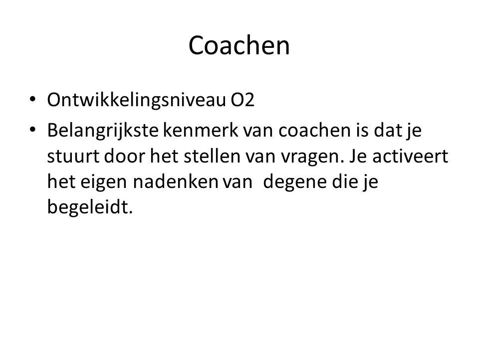 Coachen Ontwikkelingsniveau O2