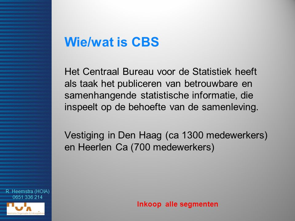 Wie/wat is CBS