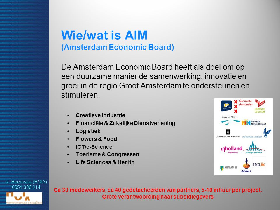 Wie/wat is AIM (Amsterdam Economic Board)