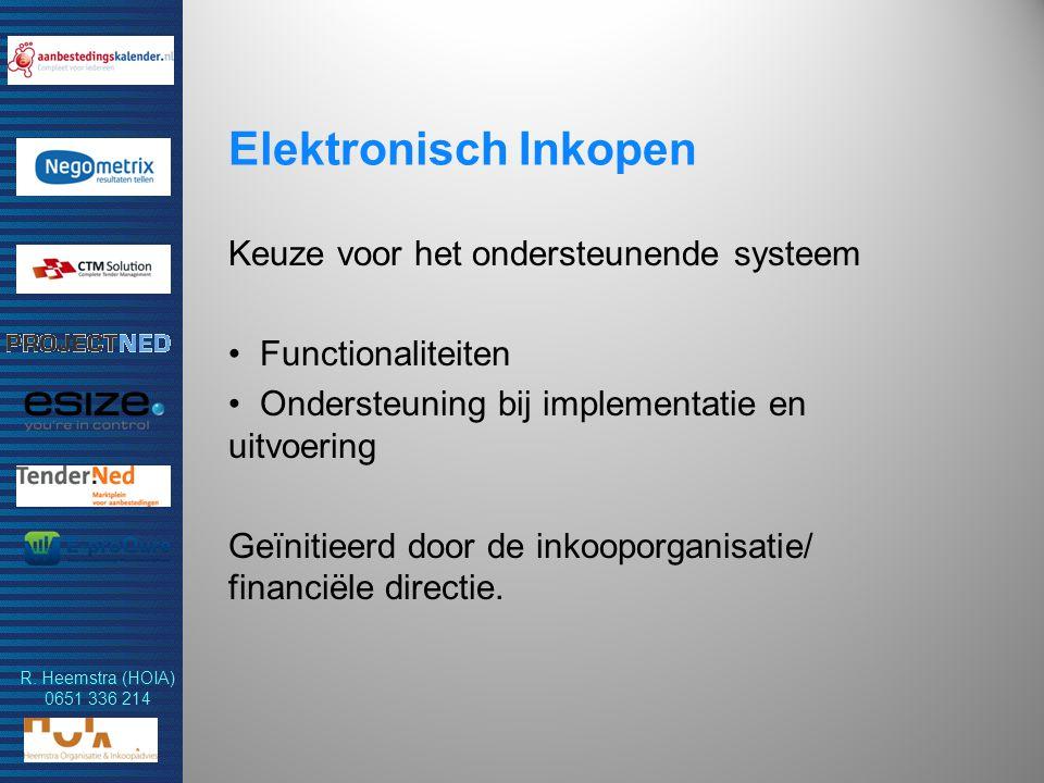 Elektronisch Inkopen Keuze voor het ondersteunende systeem