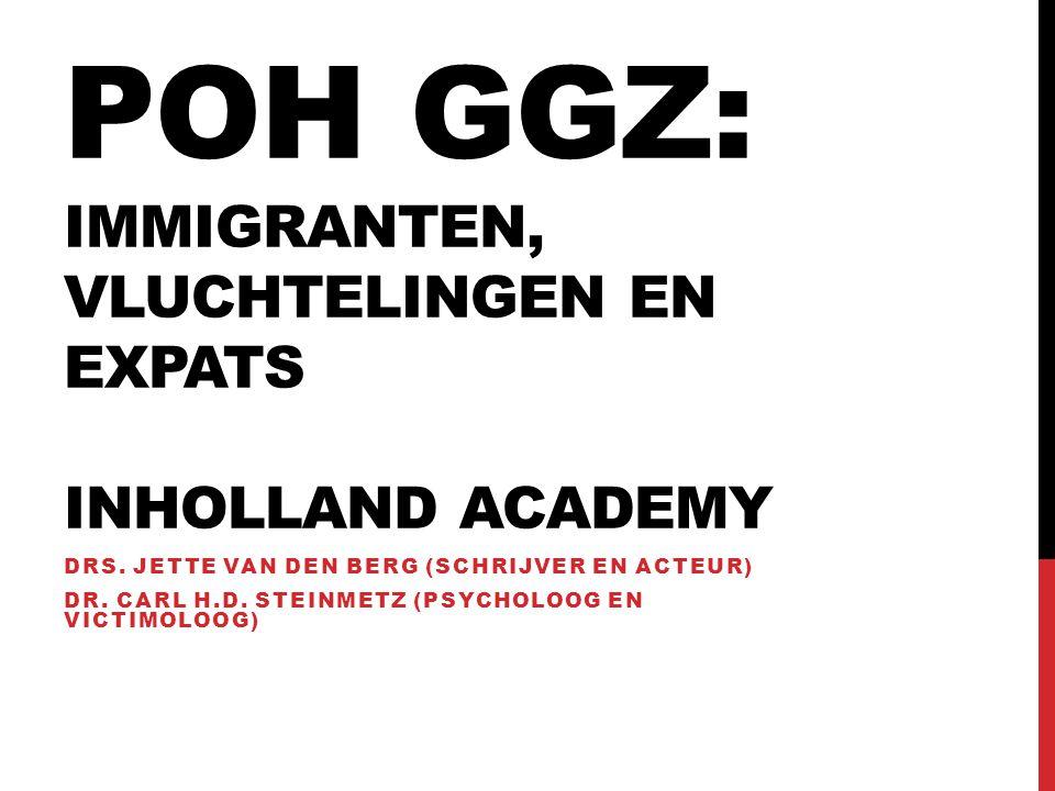 POH GGZ: immigranten, vluchtelingen en expats INHolland Academy