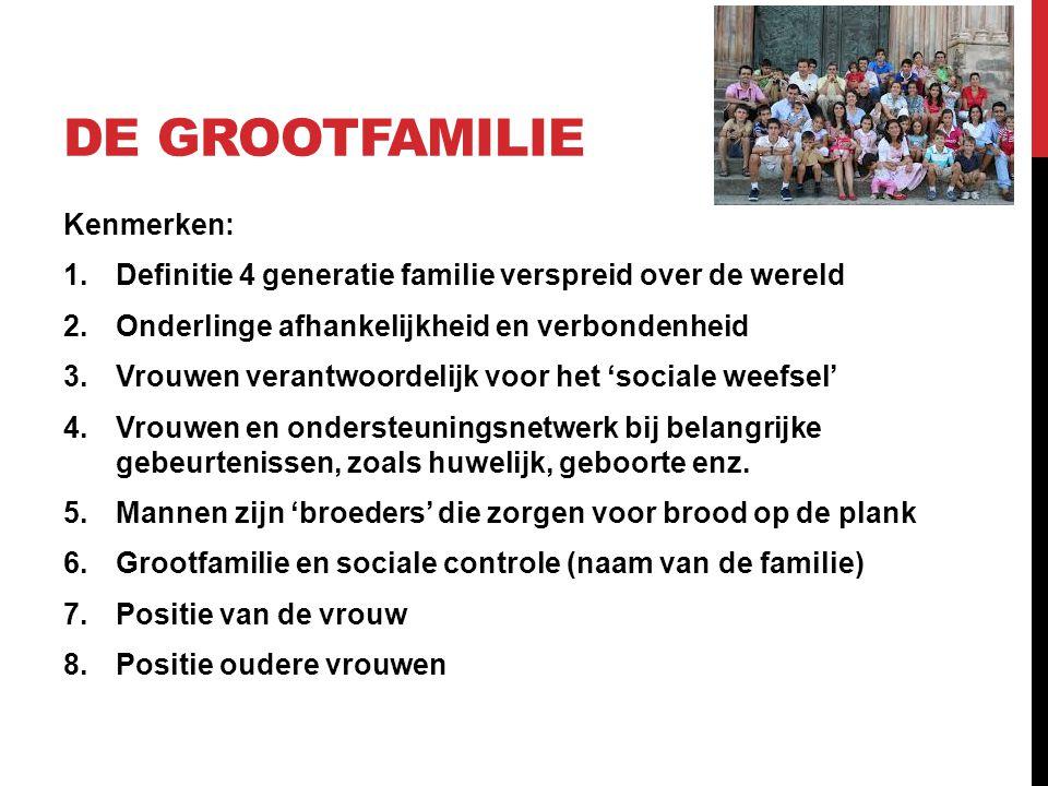 De Grootfamilie Kenmerken: