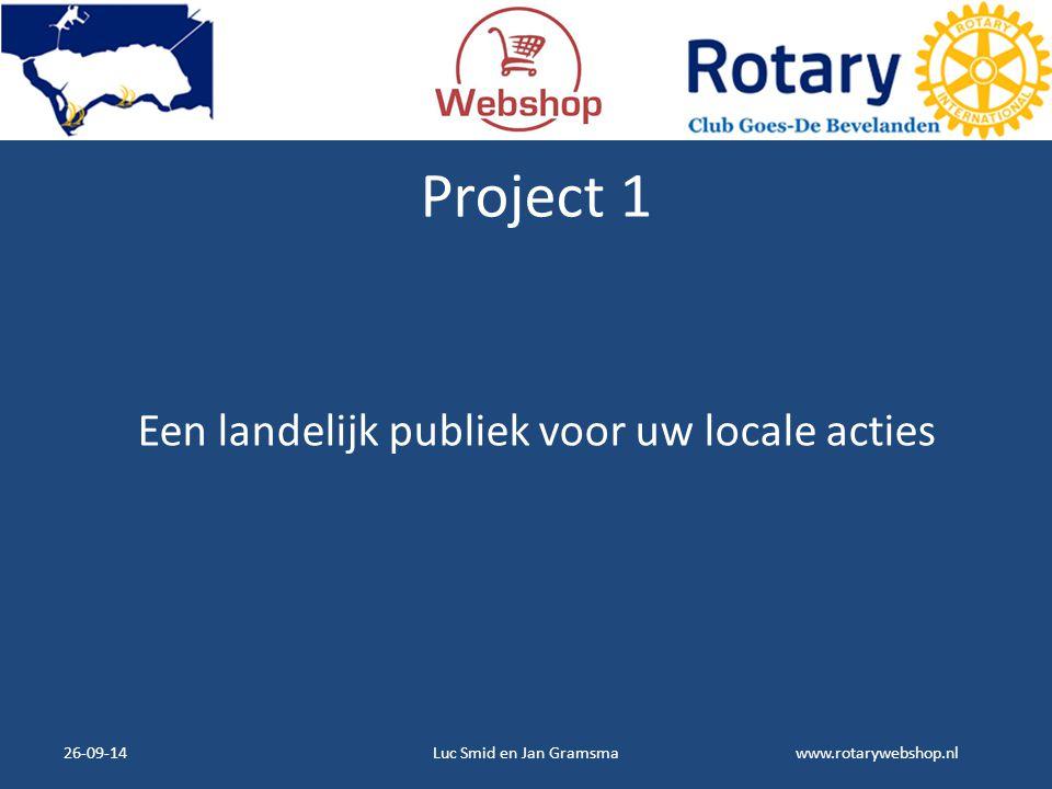 Een landelijk publiek voor uw locale acties