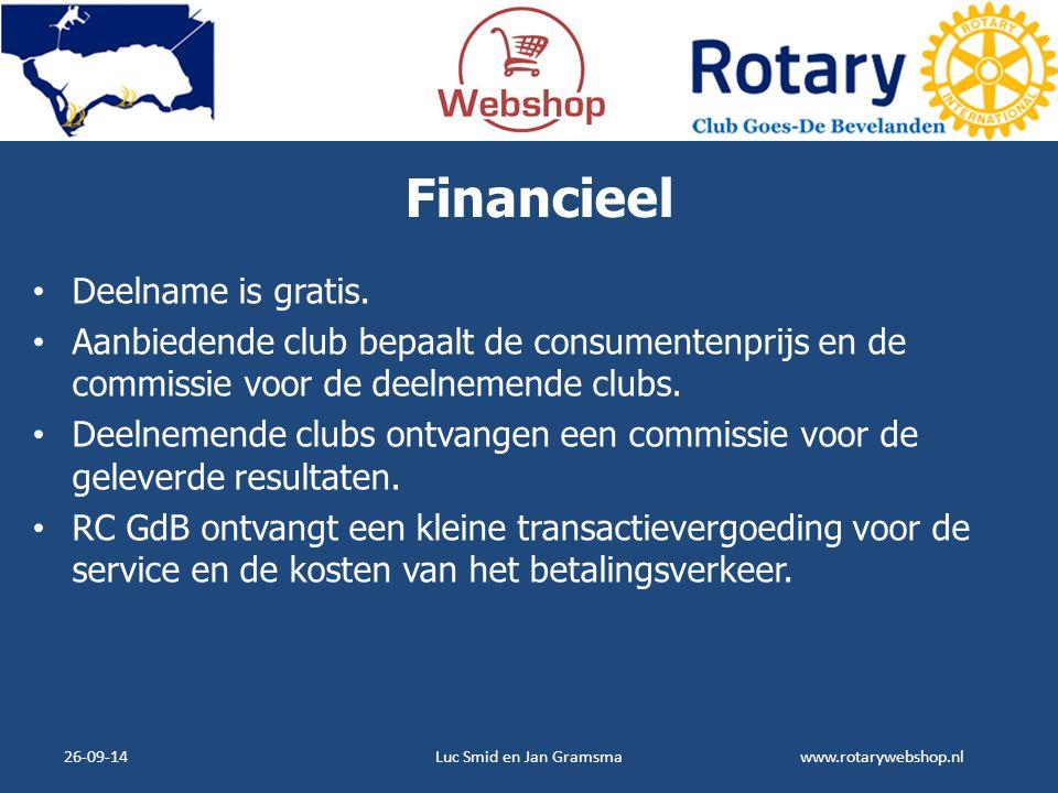 Financieel Deelname is gratis.