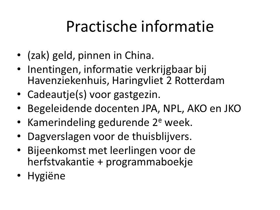 Practische informatie