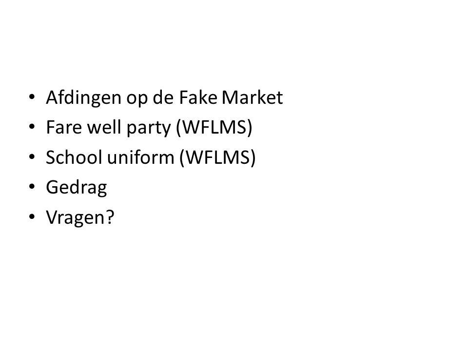 Afdingen op de Fake Market
