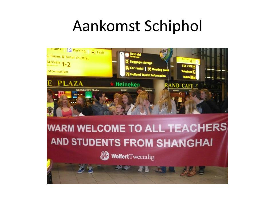Aankomst Schiphol