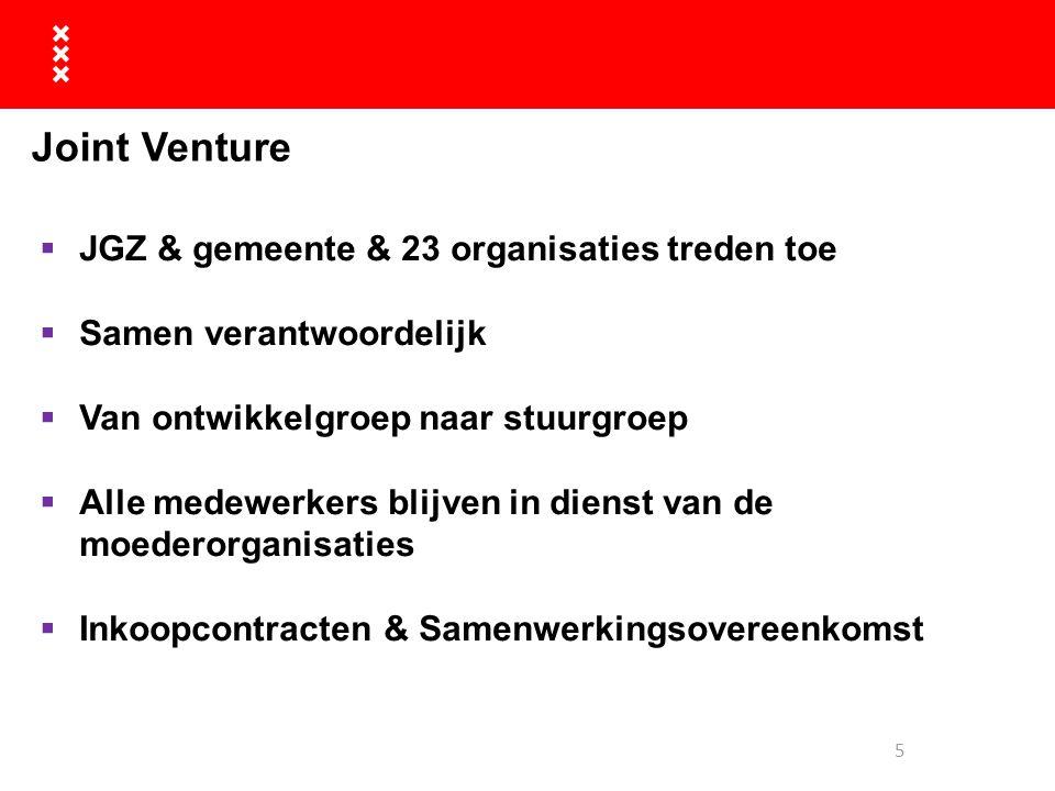 Joint Venture JGZ & gemeente & 23 organisaties treden toe