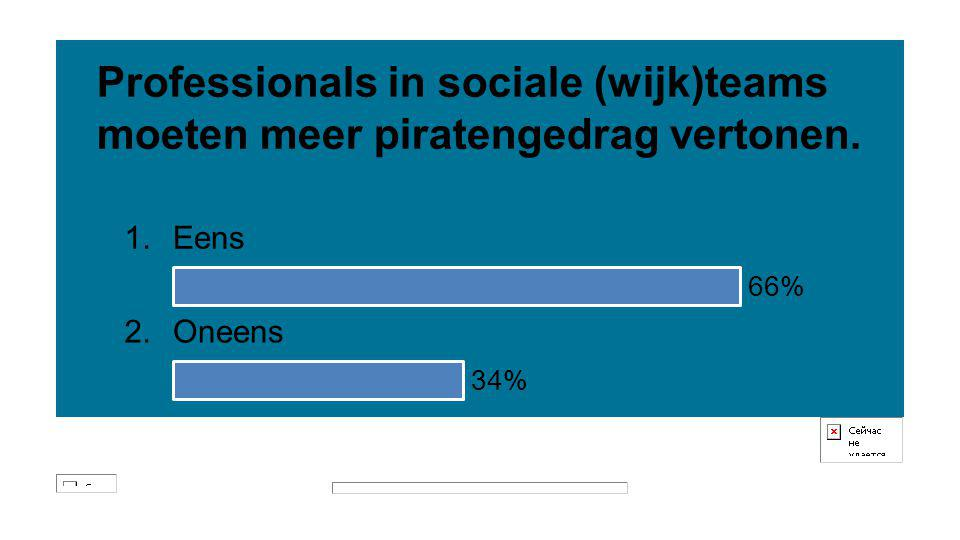 Professionals in sociale (wijk)teams moeten meer piratengedrag vertonen.