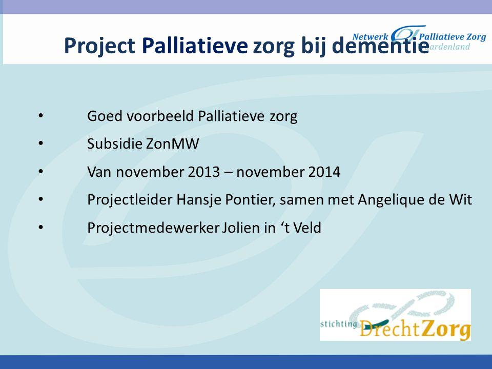 Project Palliatieve zorg bij dementie