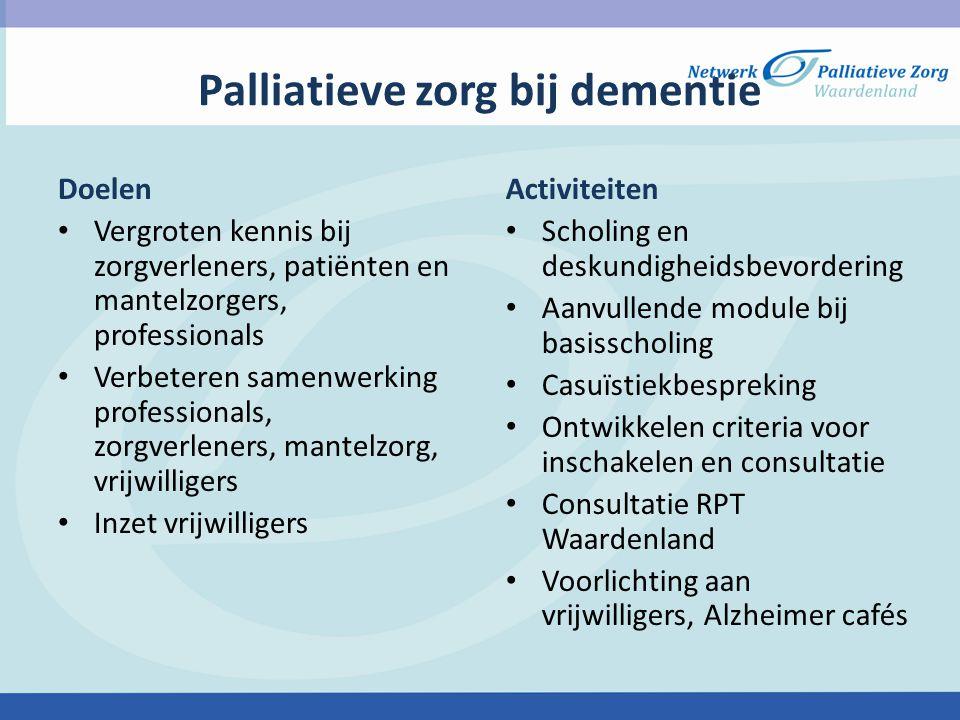 Palliatieve zorg bij dementie