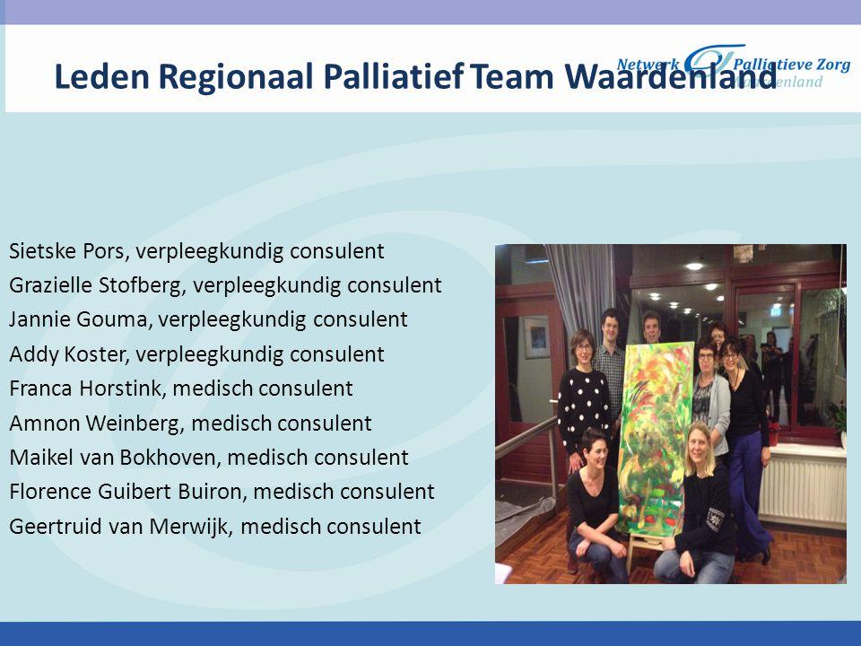 Leden Regionaal Palliatief Team Waardenland