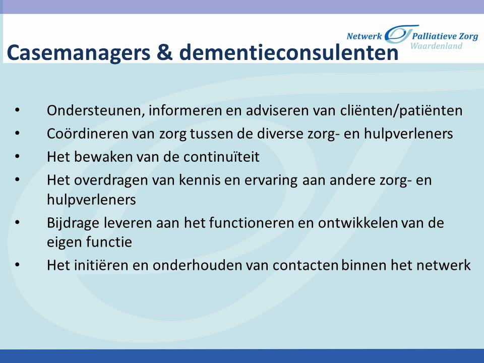 Casemanagers & dementieconsulenten