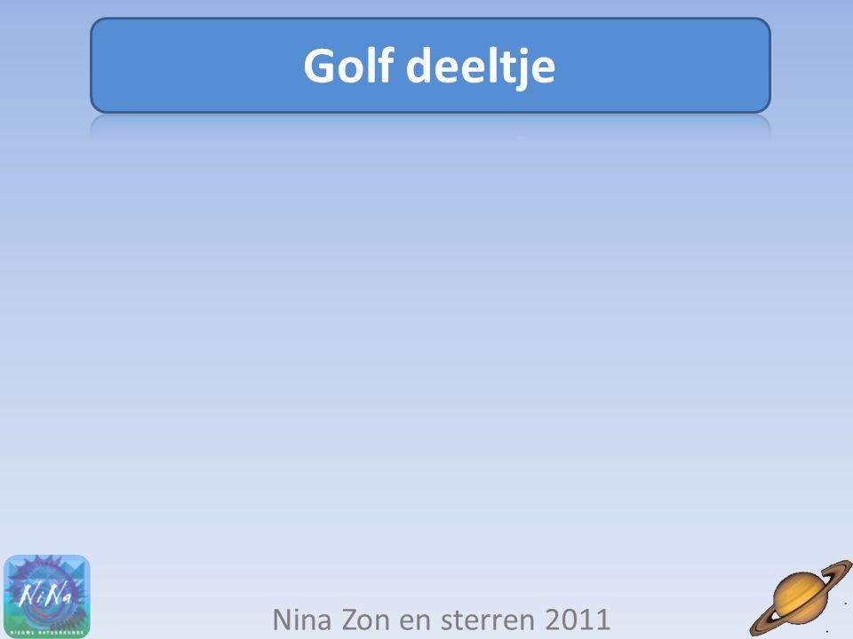 Golf deeltje Nina Zon en sterren 2011