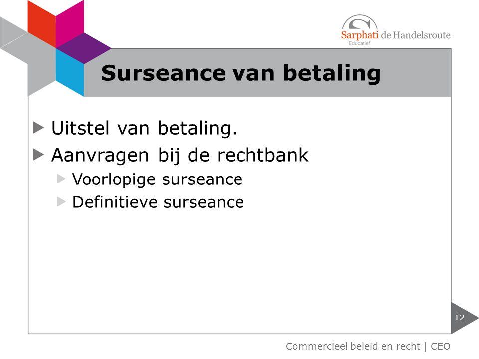 Surseance van betaling