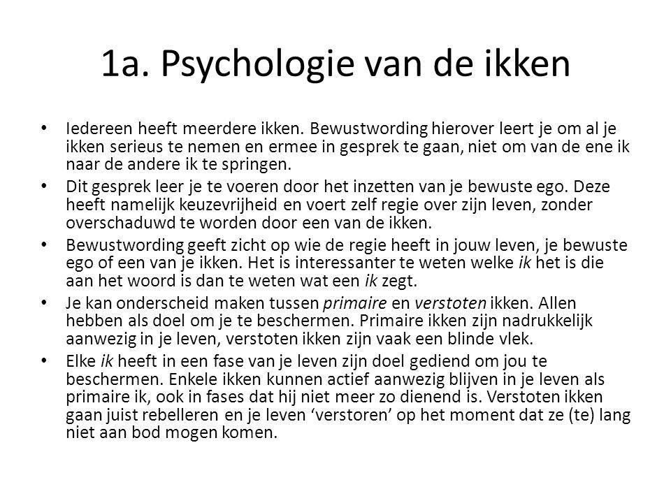 1a. Psychologie van de ikken