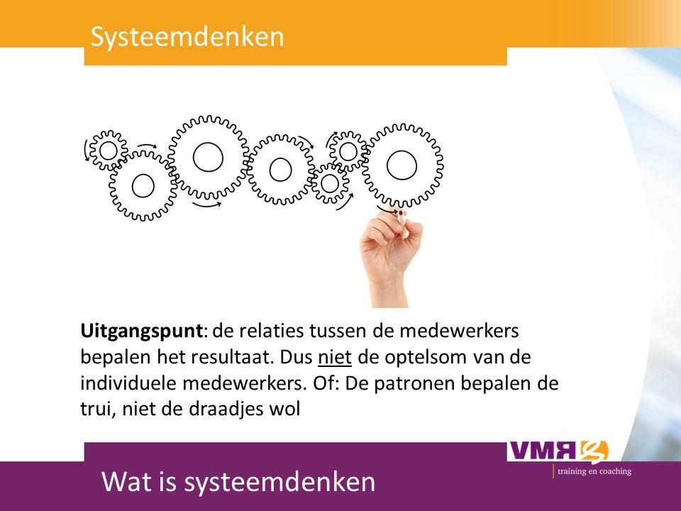 Systeemdenken Wat is systeemdenken Systeemdenken: