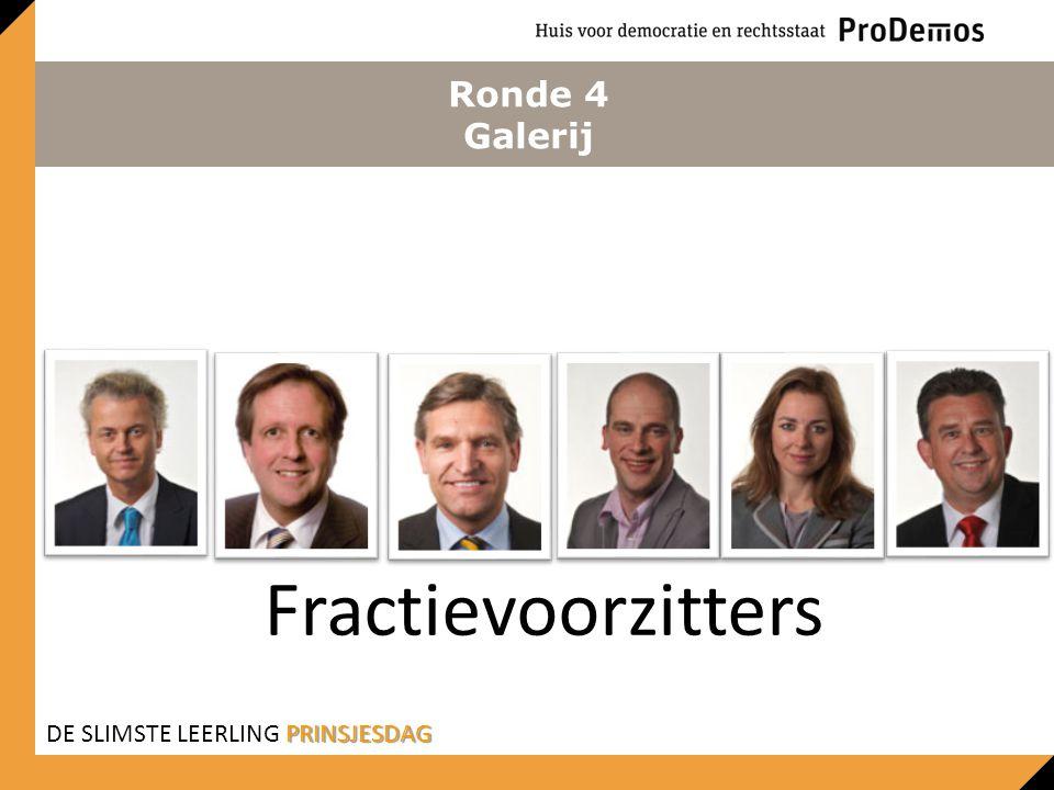 Ronde 4 Galerij Fractievoorzitters DE SLIMSTE LEERLING PRINSJESDAG