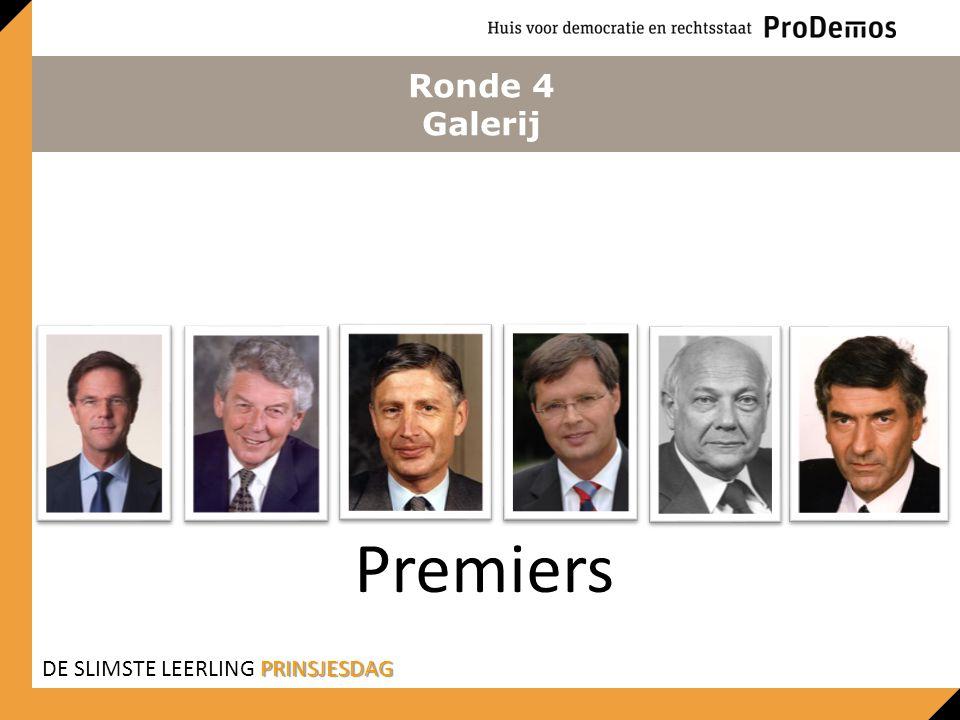 Ronde 4 Galerij Premiers DE SLIMSTE LEERLING PRINSJESDAG