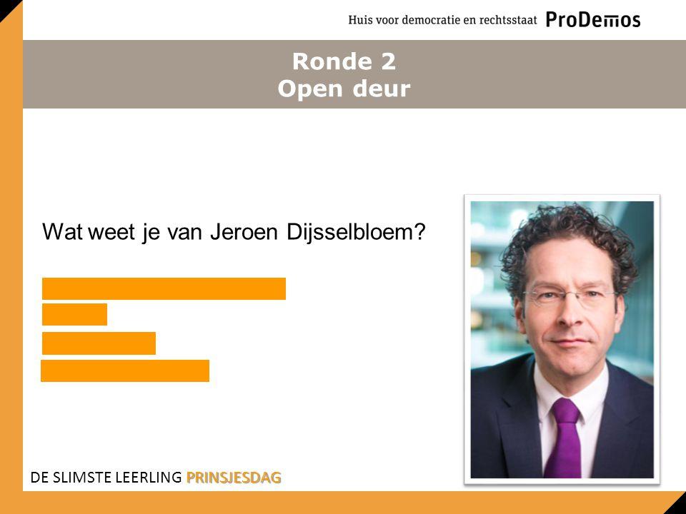 Wat weet je van Jeroen Dijsselbloem Minister van Financiën PvdA