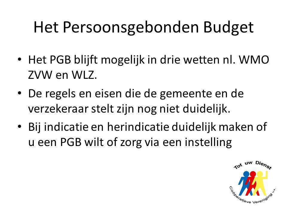 Het Persoonsgebonden Budget
