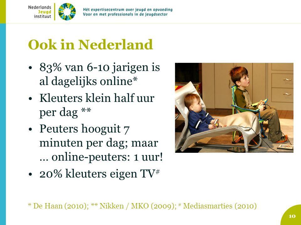 Ook in Nederland 83% van 6-10 jarigen is al dagelijks online*