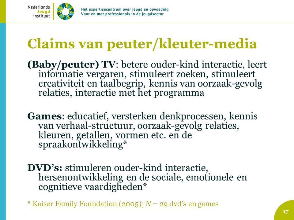 Claims van peuter/kleuter-media