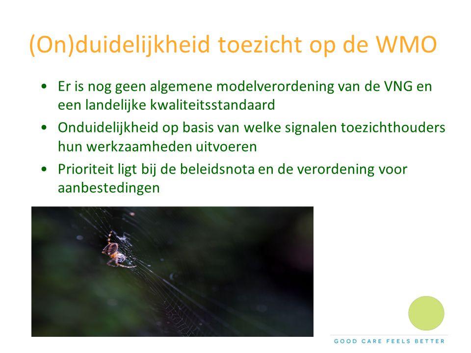(On)duidelijkheid toezicht op de WMO