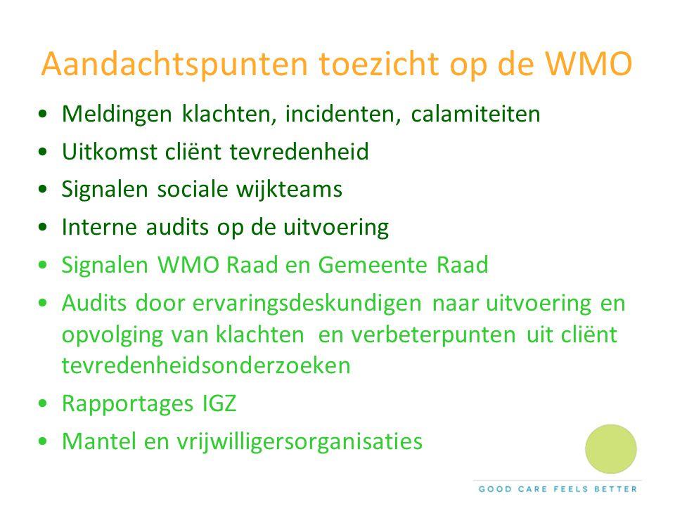 Aandachtspunten toezicht op de WMO