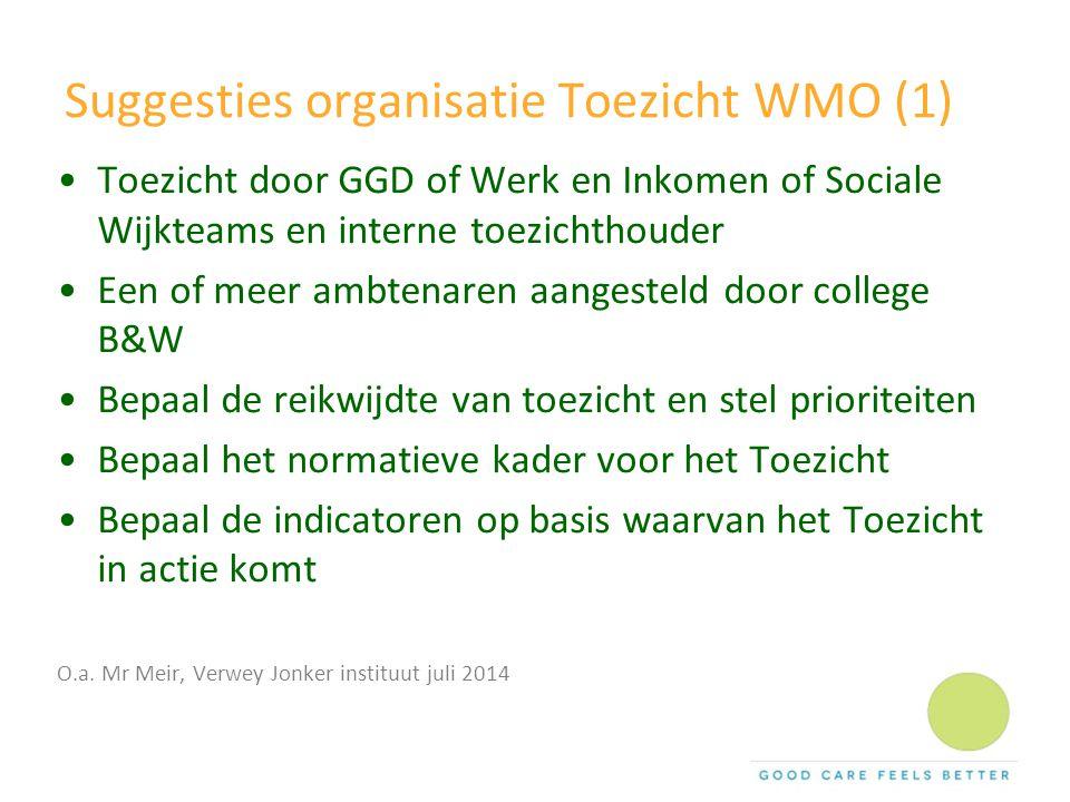 Suggesties organisatie Toezicht WMO (1)