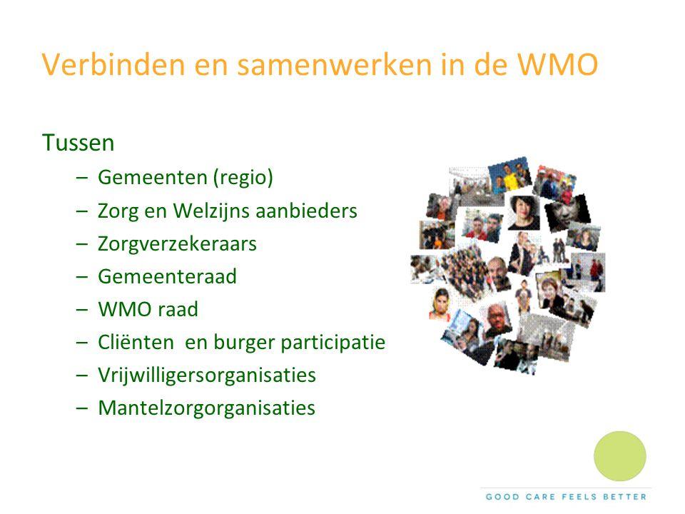 Verbinden en samenwerken in de WMO