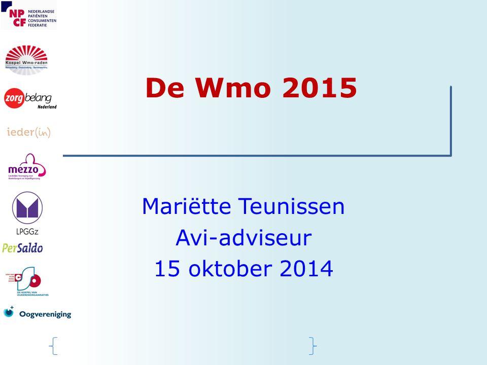 Mariëtte Teunissen Avi-adviseur 15 oktober 2014