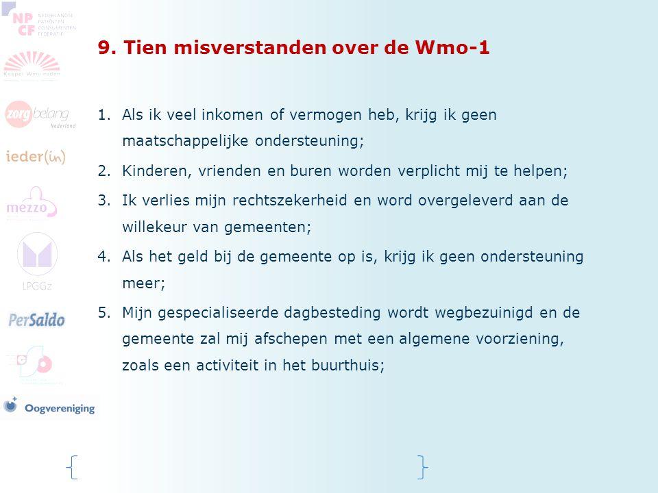 9. Tien misverstanden over de Wmo-1
