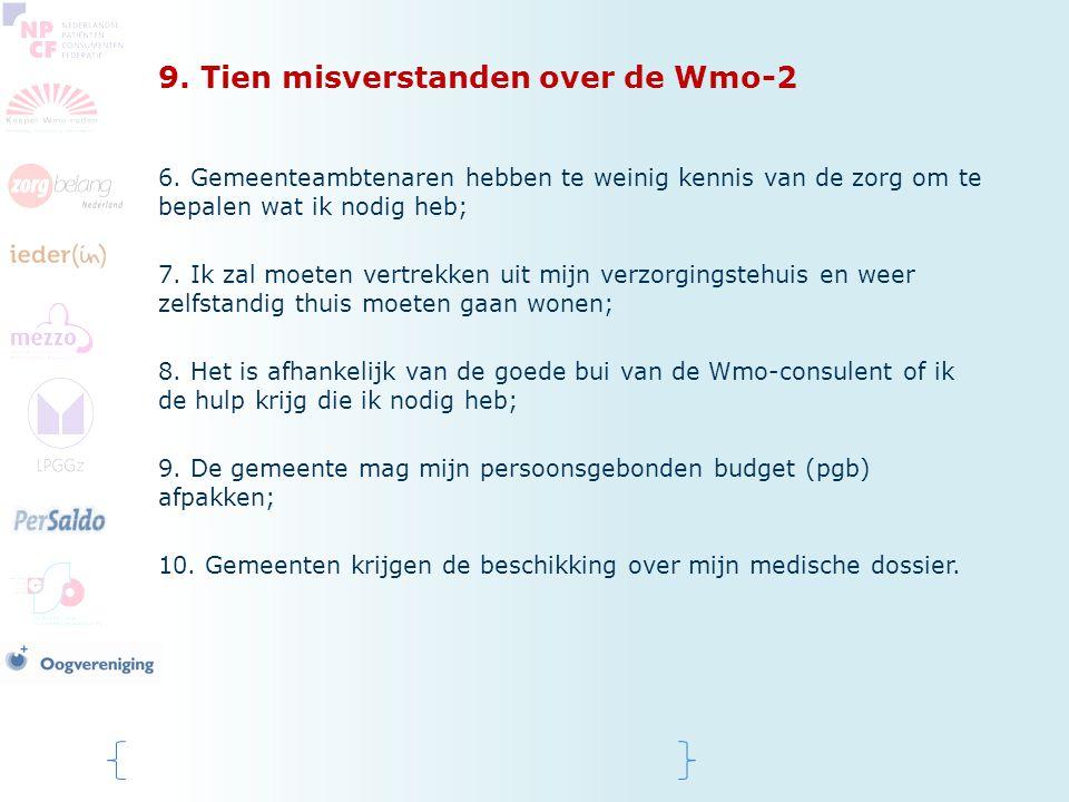 9. Tien misverstanden over de Wmo-2