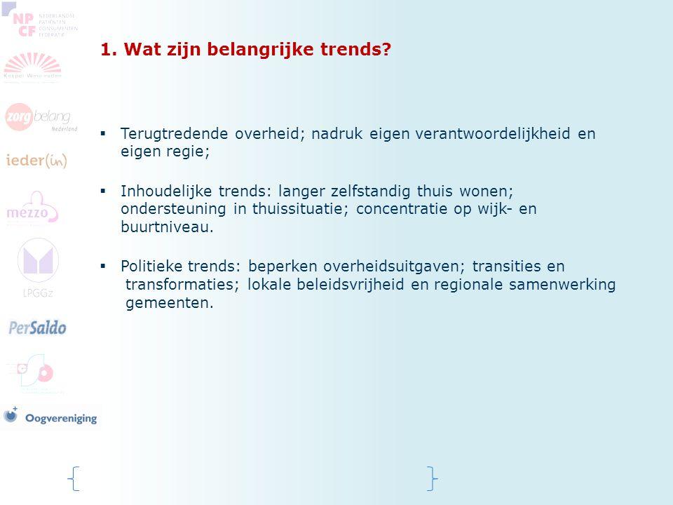 1. Wat zijn belangrijke trends