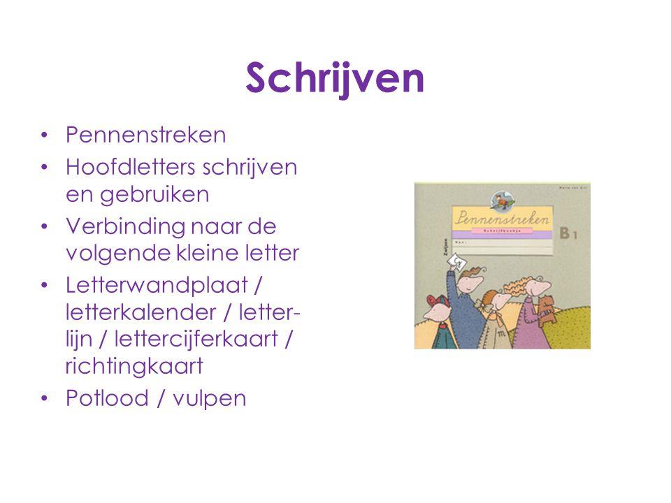 Schrijven Pennenstreken Hoofdletters schrijven en gebruiken