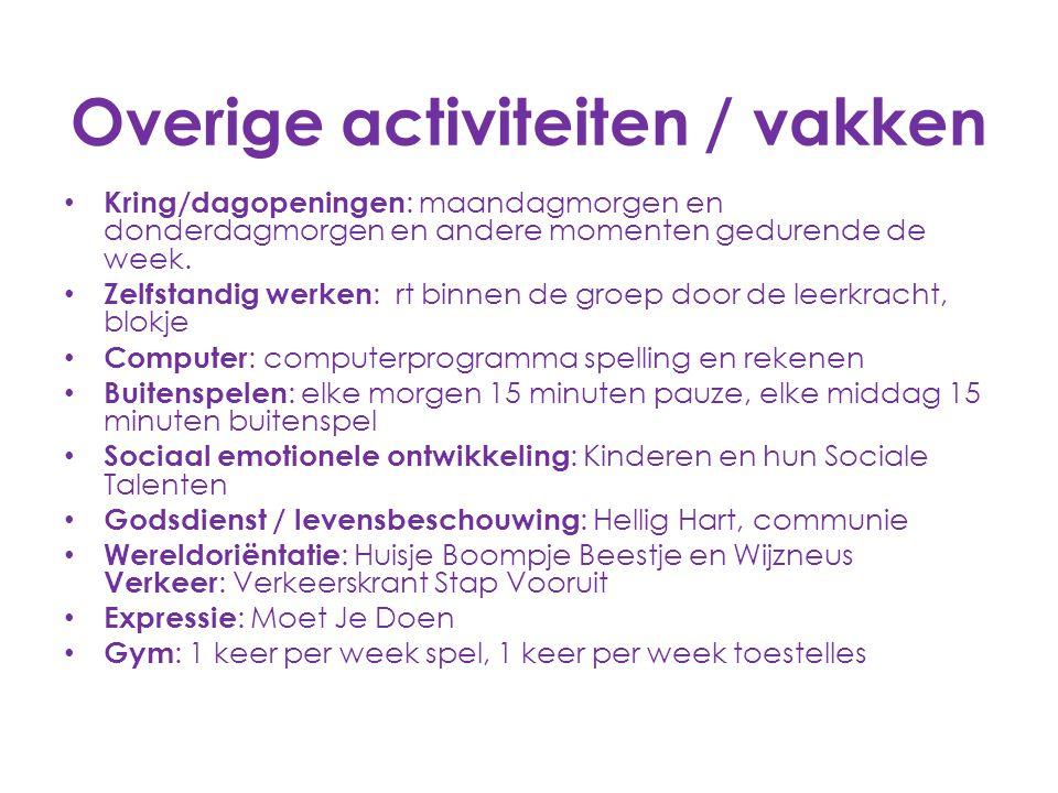 Overige activiteiten / vakken
